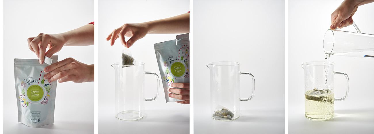 pas à pas thés glacés